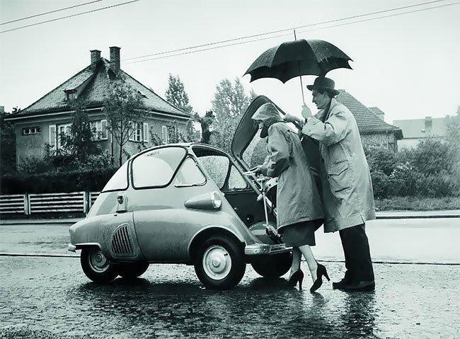 BMW Isetta: культовый миникар в истории автомобилестроения (16 фото)