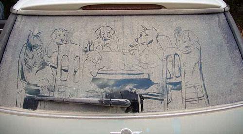 Рисунки на грязных машинах, фото № 3