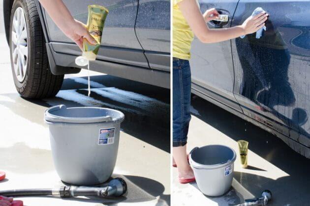 мойка машины, помыть авто, кондиционер для волос, блеск