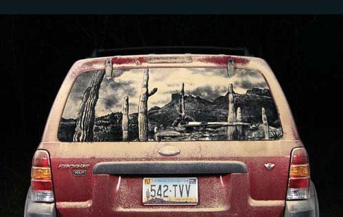 Рисунки на грязных машинах, фото № 19