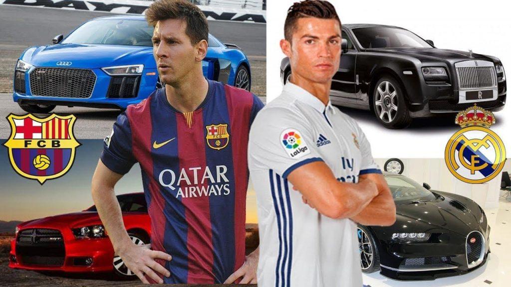 На чем ездят лучшие футболисты