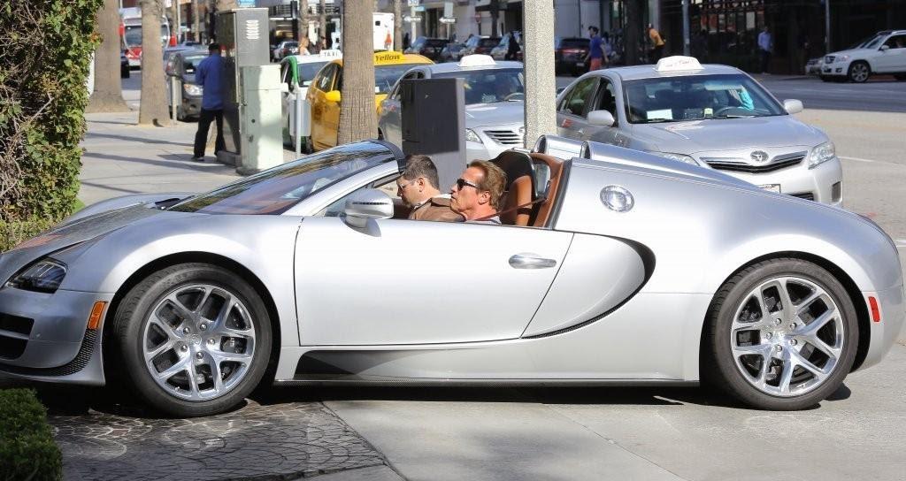 Шварценеггер на своем Bugatti Veyron Grand Sport Vitesse