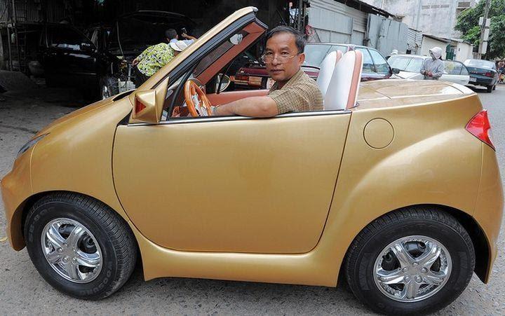 Angkor 333 – самодельный электромобиль из Камбоджи - Самые необычные