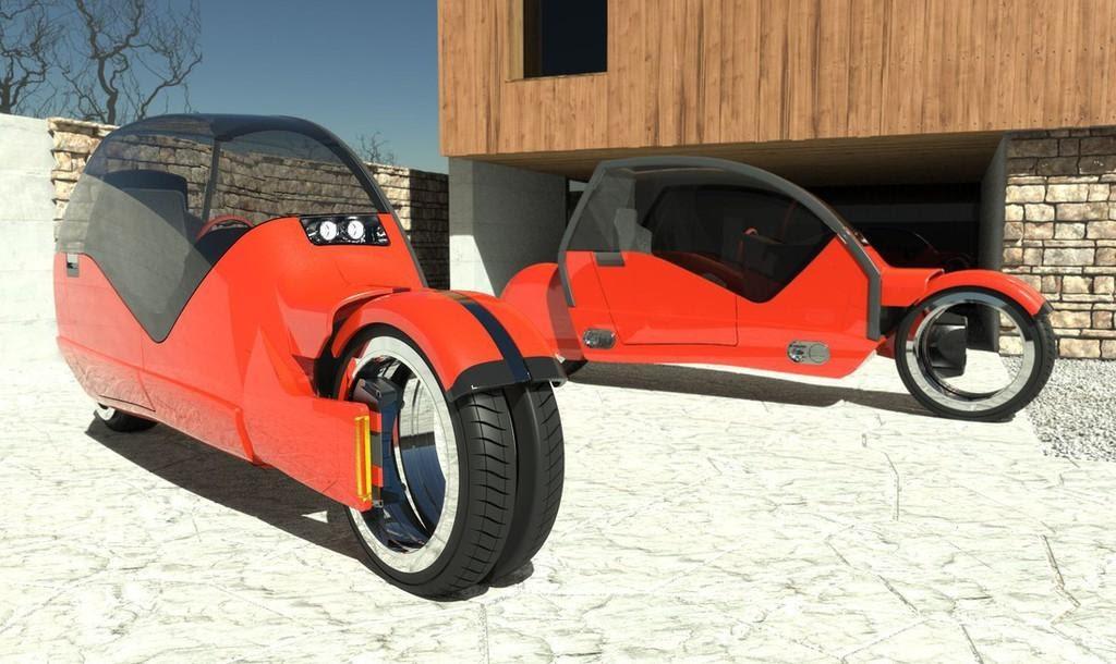 Fast Company lanesplitter concept by Argodesign: Avtomobil, ki se ...
