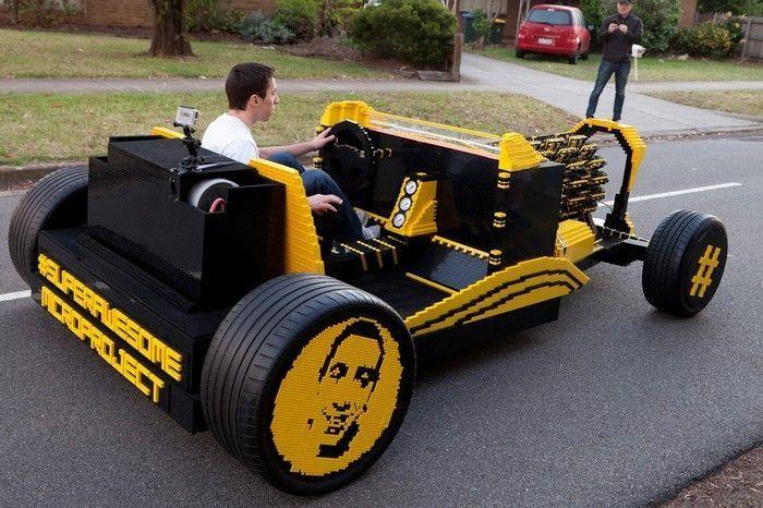 Super Awesome Micro Project – самодельный пневмомобиль из LEGO ...