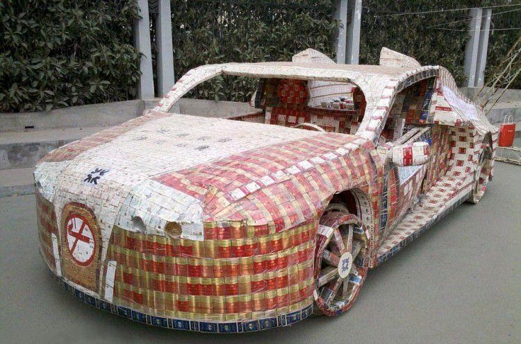Автомобиль из сигаретных пачек. Статьи от Thomi Felgen.
