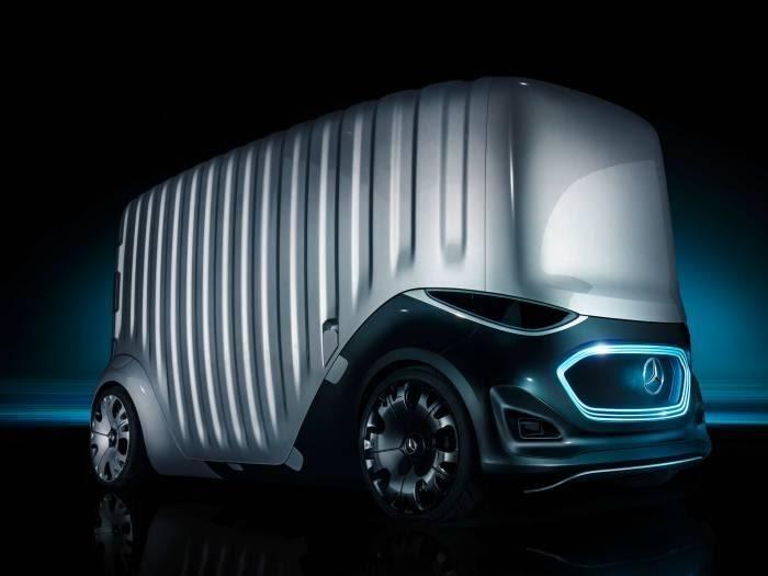 Mercedes-Benz Vision Urbanetic в грузовом корпусе. /Фото: media.wired.com