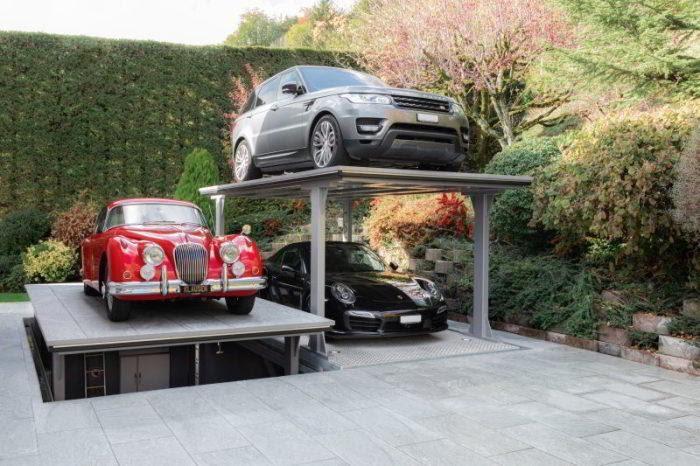 Парковка CarDok позволяет экономично распорядиться местом во дворе. /Фото: cardok.com