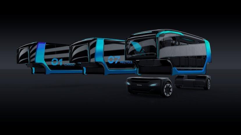 Модульная электроплатформа Scania: днем - автобус, вечером ...